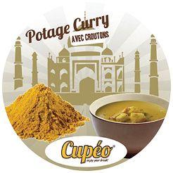 Incup kuřecí curry polévka s krutony - 1