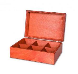 Dřevěný box s čaji Basilur - 6x10ks - 2