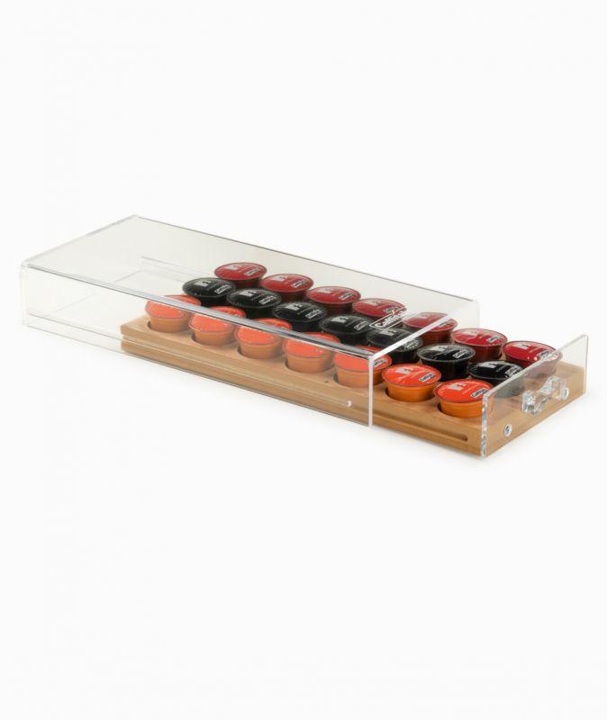 Caffitaly dřevěný box na kapsle - 1