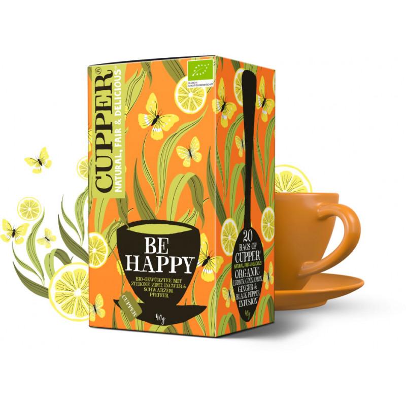 Čaj Citron, Zázvor a Pepř BE HAPPY - Bio Cupper